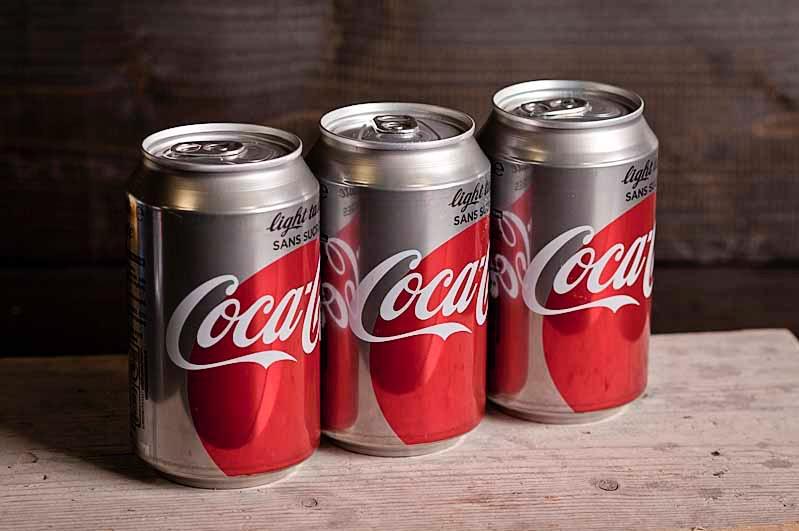 Coca-cola light blikje 330 cc