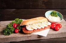 Lactosevrij broodje Huisgemaakte filet Am e rican speciaal